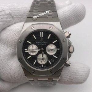 Audemars Piguet Royal Oak Chronograph 45mm Silver Black Dial Men's Watch