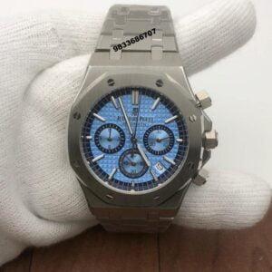 Audemars Piguet Royal Oak Chronograph 45mm Silver Blue Dial Men's Watch