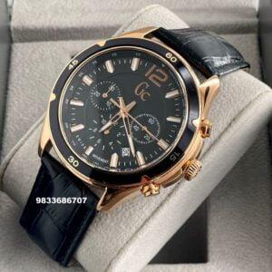 G C Alumination Chronograph Black Dial Men's Watch