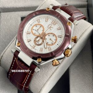 G C Sport 3 Chronograph White Dial Men's Watch
